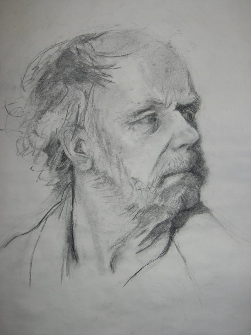 Charcoal Portrait of Doug Wooley